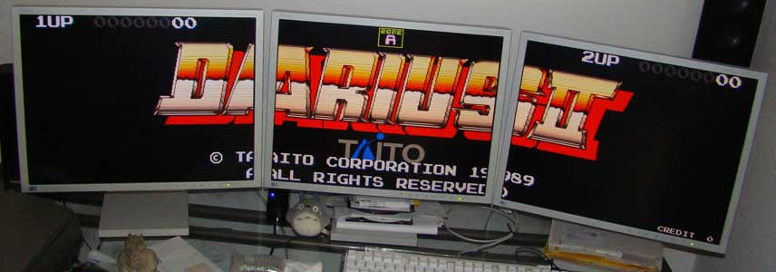 Darius II was a 3-screen game that couldn't actually output to 3 screens until the video rework