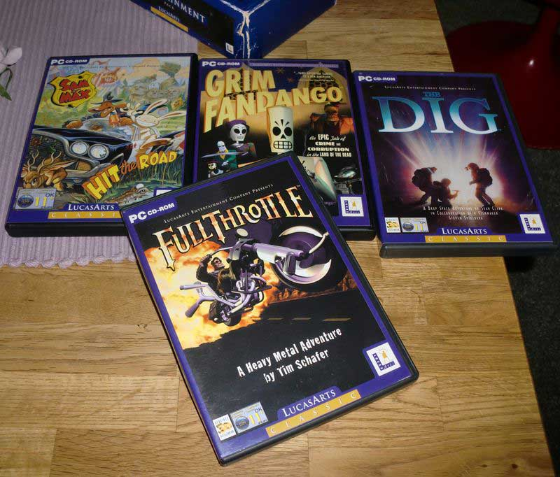 The LEC Entertainment Pack included my updated Full Throttle and Sam & Max Hit the Road (but an old version of The Dig)