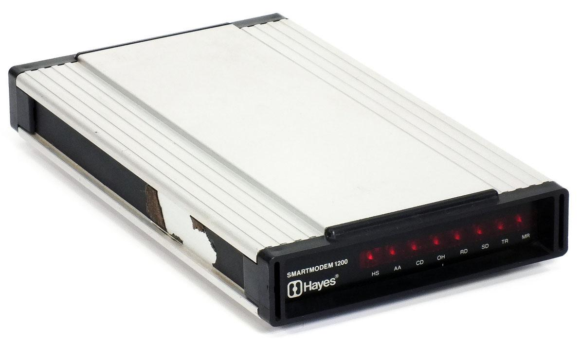 My first modem was an actual (expensive!) Hayes