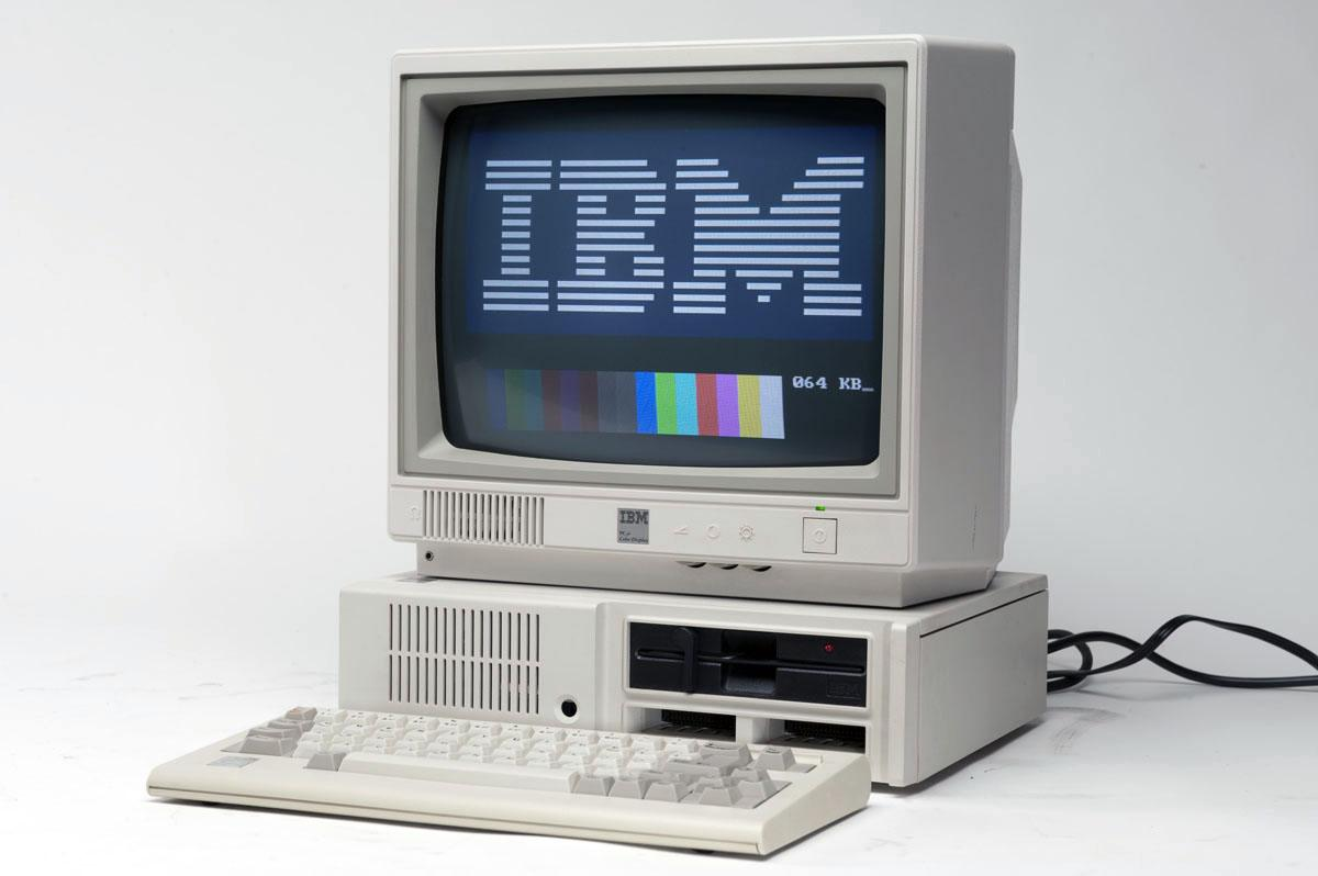 An IBM PCjr, with the proper keyboard