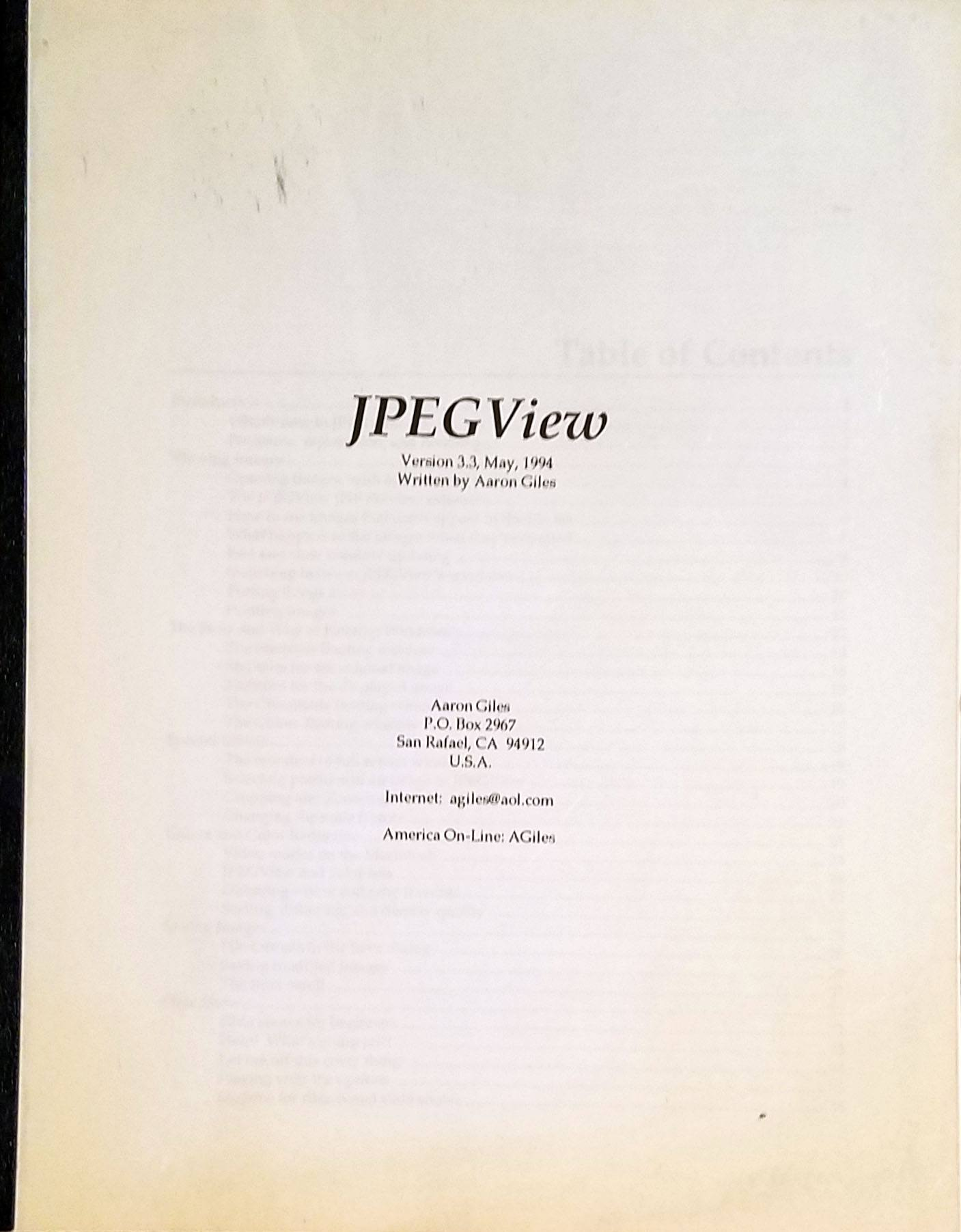 The JPEGView manual