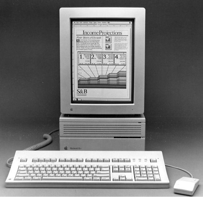 The Mac IIcx, complete with the (at the time) amazing portrait display