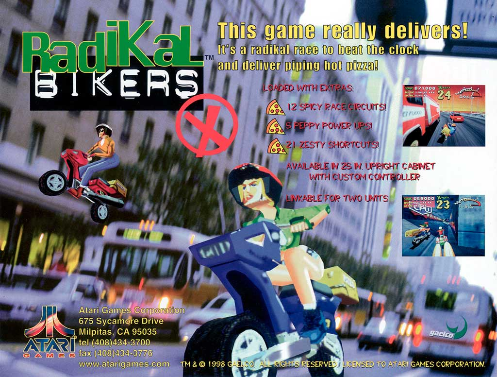 Radikal Bikers, created by Gaelco and licensed by Atari, was a fun side emulation project